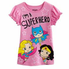 "Justice League ""I'm A Superhero"" Tee  Girls 4-6x"
