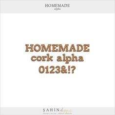 Homemade Digital Scrapbook Alphabet - Sahin Designs - Cooking, Dinner