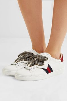 Rubber sole measures approximately 20mm/ 1 inch White leather, red and blue watersnake Lace-up front Watersnake: Indonesia Made in Italy