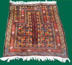 tapis afghan semi- ancien