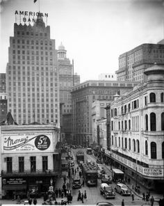 vintagenola: View up Carondelet from Canal Street - 1940sVia the Franck - Bertacci Photographers Collection