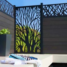 80 Stunning Privacy Screen Design for Modern Home Screen Design, Door Design, House Design, Garage Design, Design Design, Design Ideas, Interior Design, Outdoor Spaces, Outdoor Living