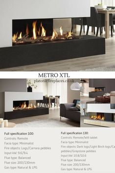 Like the Metro Tunnel the Metro XTL can be used as a room divider. The width of the main glass screen is or Modern Interior Contemporary Fireplace Designs, Contemporary Home Decor, Contemporary Design, Modern Fireplaces, Modern Design, Luxury Interior, Modern Interior, Interior Architecture, Interior Design