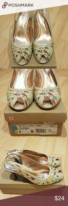 Naturalizer Floral print shoes heels Great condition.  Super comfortable.  Size 9M Naturalizer Shoes Heels