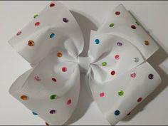 Moño boutique decorado con cuentas de colores Video No.498creacionesrosaisela - YouTube