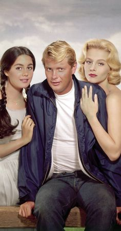 Sharon Hugueny, Troy Donahue and Diane McBain in Parrish, 1961 Old Hollywood Stars, Vintage Hollywood, Classic Hollywood, Vintage Tv, Vintage Fashion, Classic Movie Stars, Classic Movies, Troy Donahue, Star Costume