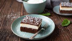 Čokoládovo-kokosové rezy | Recepty.sk Chocolate, Eskimo, Tiramisu, Food And Drink, Coconut, Ethnic Recipes, Over 40, Jars, Recipes