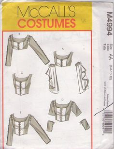 bodice and sleeve variations