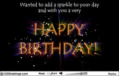 Add a sparkle to your wishes on your loved ones #Birthday with this sparkling birthday Ecard.  www.123greetings.com