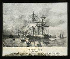 """P.S. """"Sophia Jane"""", 256 Tons, The First Steamer to Arrive in Australia, 1831, and Employed Between Sydney, Newcastle, Morpeth 