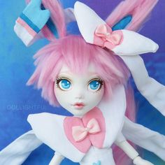 Pokemon Sylveon [close up] Custom OOAK doll by Dollightful