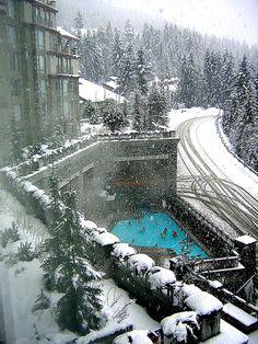 Snow Swimming, Whistler, Canada