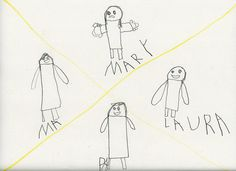 Stick Figure Laura: Art By Clara - The Ingalls Family by Middle America, via Flickr