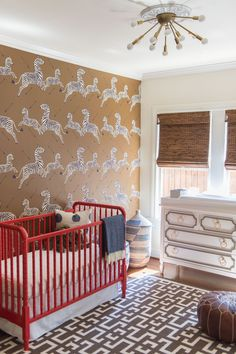 Modern safari nursery for boys