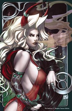 Lady Death Taurus _naughty_ by ToolKitten.deviantart.com on @deviantART
