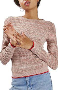 Topshop Tipped Marl Rib Sweater