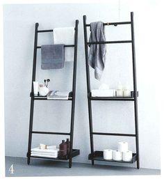 Minimalistic bathroom shelving