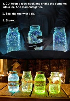 great star themed table center pieces: