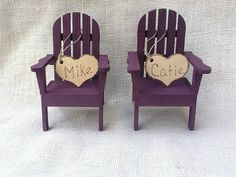 Adirondack chair cake topper color by NauticalWeddings on Etsy