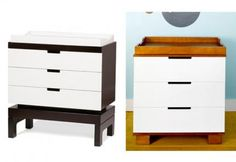 Splurge vs. Save Nursery Ideas  |There are few differences between these two changing tables other than the price tags!