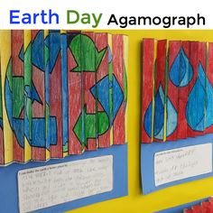 Earth Day Agamograph for classroom teachers and art teachers. Coloring, cutting, folding and the end result is WOW! This will be a winning Earth Day art lesson for your kids!