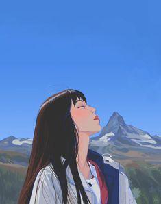 Aesthetic Drawing, Aesthetic Art, Aesthetic Anime, Korean Aesthetic, Aesthetic Japan, Aesthetic Pictures, Colorful Drawings, Cute Drawings, Kawaii Drawings