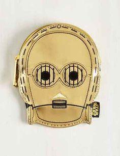 This metallic C-3PO wallet: