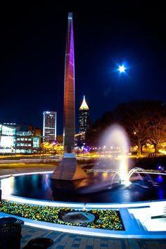 Beautiful nighttime shot of the Campanile. We ♥ Georgia Tech.