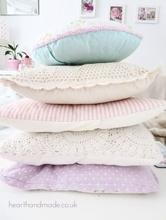 DIY 5 Easy Shabby Chic Touches To Add To Your Home ! (above shabby chic pillows tutorial)