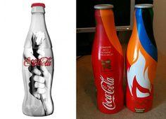 Coca-Cola revela o design de suas garrafas criadas especialmente para as Olimpíadas http://bbus.biz/t/110345