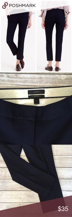 J. Crew Navy Campbell Capri Pant Bi-Stretch Wool Navy. See last 2 photos for details. Excellent condition NO TRADES/NO MODELING✅BUNDLE TO SAVE✅ J. Crew Pants Ankle & Cropped