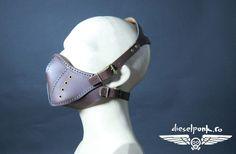 CYBERPUNK MASK leather hand made steampunk mask Halloween apocalypse gas mask gear