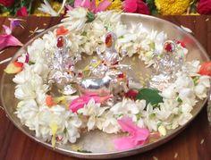 Diwali Decorations, Table Decorations, Silver Pooja Items, Indian Philosophy, Gold Shower, Pooja Room Design, Puja Room, Circle Metal Wall Art, Buddha Meditation