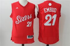 2b20f83a196 2017 NBA 76ers 21 Joel Embiid Red Cheap Nba Jerseys, Nhl Jerseys,  Basketball Jersey
