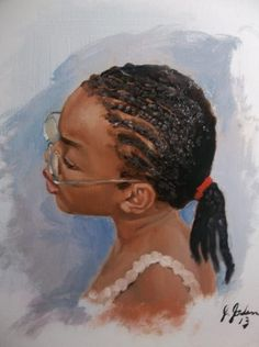 """""""Little Girl With Glasses"""" by Jerry Jordan"""