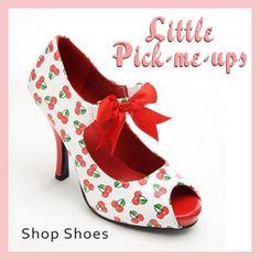 a310abaae99c cherry print retro heels Girls Fashion Clothes, Pinup Girl Clothing,  Fashion Shoes, Fancy