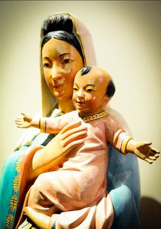Madonna & Child statue from a Chinese Catholic church in San Francisco