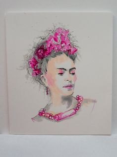 Frida Kahlo Original Art by promote art