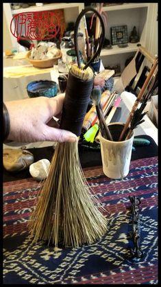 Natural Brushes, Japanese Calligraphy, Encaustic Art, Mark Making, Paint Brushes, Soft Leather, Fiber, African, Handmade