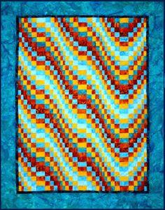 """""""Fiesta Bargello"""" quilt pattern at Arbee Designs"""