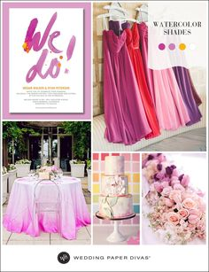 Watercolor doesn't have to mean washed out. Get inspired to incorporate this runway trend into your wedding.