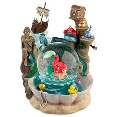 Disney Ariels Grotto The Little Mermaid Snowglobe New | eBay