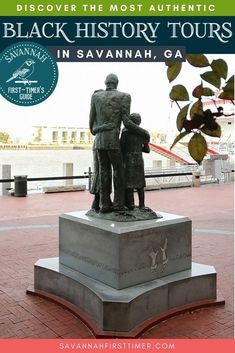 Discover the best and most authentic Black history tours in Savannah, Georgia. Learn about the freed community of Pin Point, The Weeping Time memorial, the African American Monument, Gullah Geechee culture, and unique homes and museums such as the Owens-Thomas House and Slave Quarters.   savannahfirsttimer.com Us Road Trip, Family Road Trips, Family Travel, Usa Travel Guide, Travel Usa, Savannah Georgia, Savannah Chat, American Attractions, Bucket List Family