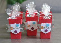 Boîtes à gourmandises LEGO Thinlits Popcorn Box par Marie Meyer Stampin up - http://ateliers-scrapbooking.fr/