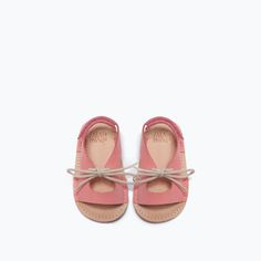 ZARA - MINI - LEATHER SANDAL WITH BOW