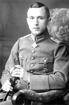 During World War I, Ernst Jünger (29 Mar 1895 – 17 Feb 1998) was a German writer and philosopher who  served with distinction in the Imperial German Army on the Western Front. He was wounded seven times during his war service. In the first week of Jan 1917 he was awarded the Iron Cross First Class and the Pour le Mérite in Sept 1918 as a Lieutenant at the age of 23. His war experiences are first described in Storm of Steel which Jünger self-published in 1920.