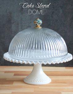 DIY Cake Stand Dome { Be What We Love blog } #diy #dessertdisplays #cakestand