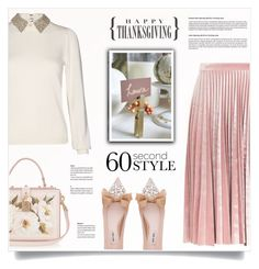 """""""Thanksgiving Dinner"""" by kiki-bi ❤ liked on Polyvore featuring Topshop, Alice + Olivia, Miu Miu, Dolce&Gabbana and familydinner"""