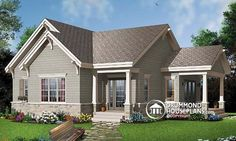 Eplans Craftsman House Plan - Compact Country Cottage - 1134 Square Feet and 1 Bedroom from Eplans - House Plan Code BR/BA and add BA House Plans And More, Family House Plans, Small House Plans, House Floor Plans, Vestibule, Plan Garage, Drummond House Plans, Traditional House Plans, Traditional Design