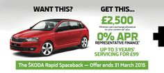 A new-look sporty exterior  With lots of space, numerous 'Simply Clever' features, intelligent safety systems and low fuel consumption figures the new ŠKODA Rapid Spaceback is sure to impress. http://www.allelectric.co.uk/skoda/new-cars-offers/skodarapidspaceback/